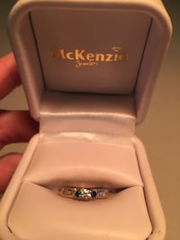silver and blue gemstone ring in box North Palm Beach, 33410