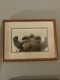 """Framed photo of """"Botero"""" sculpture"""