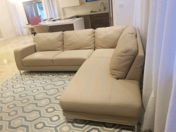 Italian Leather Sofa Taupe Sectional dd3f48c1-d05e-4b04-8e74-1a5d3acc97df