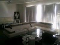 Brand new white leather couch sectional Las Vegas