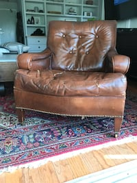 ANTIQUE LEATHER 1930's CLUB CHAIR Toronto