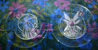 2 handmade etched Fairy glass plates   Athens, 30601