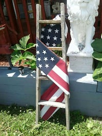 U.S. flag; brown wooden ladder Kearneysville, 25430