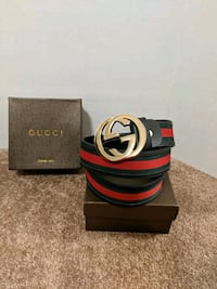 Black/Red Gucci belt  Mississauga, L5B 2C9