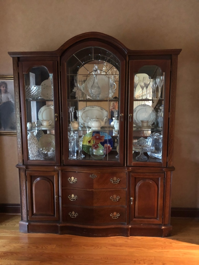 used brown wooden framed glass display cabinet for sale in monroe rh gb letgo com