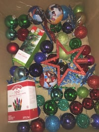 Ornaments with 3 avengers balls , lights and star Waterbury, 06705