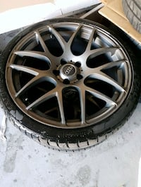 Audi s6 19inch rims and tires set of 5 5x112