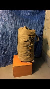 Authentic us navy duffle bag