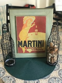Vintage martini decor with wine cork holders and martini glasses Phoenix, 85044