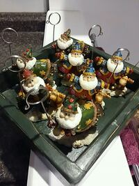 7 Christmas place seating with rustic green tray Mississauga
