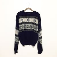 black and white tribal print sweater Mission, 78572