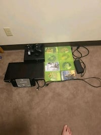 Xbox360  with TV games controllers