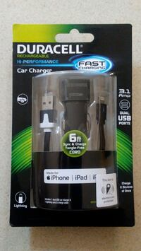 Duracell Dual Iphone/Ipad Car Charger