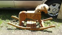 brown wooden rocking horse Guelph/Eramosa, N0B