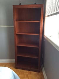Brown book shelf