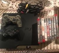 black Sony PS3 slim console with controllers and games Oxnard, 93033