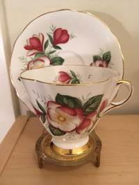 Clarence bone china cup and saucer