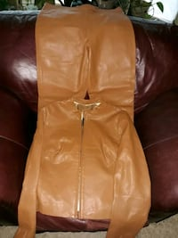 Authentic BCBG Leaather jacket with  matching pants Minneapolis