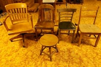Assorted wooden chairs and stool  Bel Air, 21014