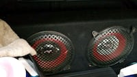 black and red subwoofer speaker Yonkers