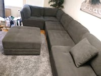 L Couch with Ottoman clean  Arlington, 22205