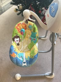 baby's white and multicolored Fisher-Price cradle 'n swing Барри, L4M 1L6