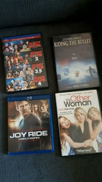 DVDs and one blu ray only joy ride and scary movie St. Albert, T8N 1L1