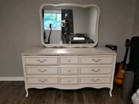 white wooden dresser with mirror Pickering, L1V 3A9