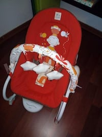 asiento gorila Fisher-Price rojo y blanco BARCELONA