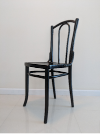 Original Thonet Bentwood Chair, Viennese Coffeehouse Style, black, Art Noveau