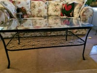Glass and black metal coffee table  Henderson, 89015