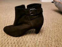 Size 6.5 Black Suede Boots  Calgary, T2J 0L8