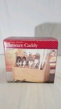 Natural Wood Flatware Caddy