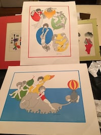 Julie Corsover prints. These are vintage prints 1977.