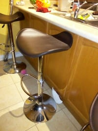 silver and black leather padded bar seat Brampton, L6Z 0C8