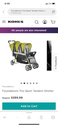Baby's green and black stroller screenshot