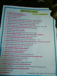 Huge moving sale everything must go!