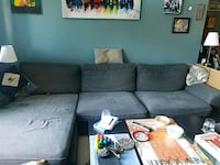 Sectional sofa with storage ottoman Reston