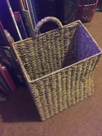 Wicker/ Rattan hanging storage basket Long Beach, 90814