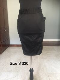 Black pencil skirt size s.