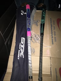 Fild hockey sticks and bag great condition only 40 Firm