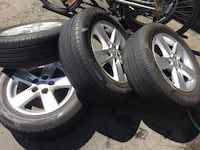 see of 4 tires and rims all season for Mitsubishi all fits size 215/60/R16 Dot 2018 tires Brampton, L6R 3M6