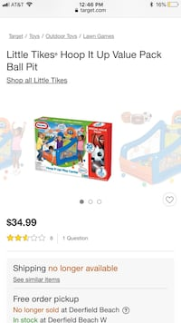 Little tikes hoop it up ball pit.  Boca Raton, 33433
