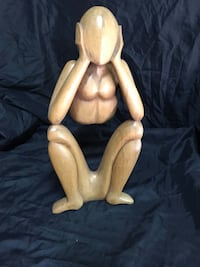 Thinking wooden monkey  Vancouver, 98661