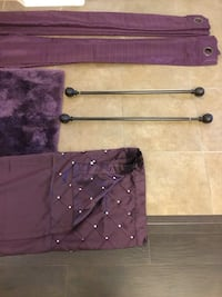 Bathroom Set and Curtains with rods Belton, 76513