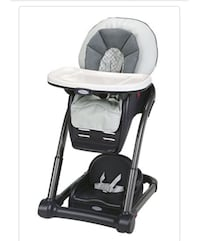 baby's black and white high chair