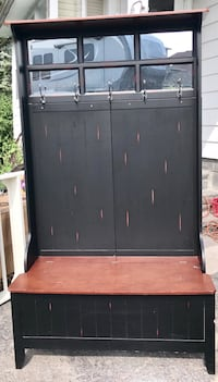Brown and black wooden cabinet Kingston, 12401