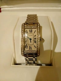 Cartier Tank Americaine White Gold Womens Watch