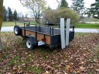 brown and black utility trailer Whitchurch-Stouffville, L4A 7X3