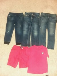 3 True Religion jeans size 5years and True Religion shorts 5T  Odenton, 21113